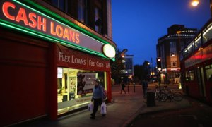 Cash loans shop on the high street