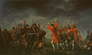 The Scottish Jacobites Uprising, finally defeated & butchered at Battle of Culloden 16 April 1746 [Bonnie Prince Charlie fought there at the last pitched battle fought on British soil]