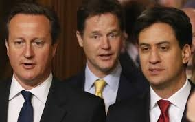 Cameron, Clegg, Miliband - three in the frame?