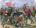 Illustration Of Armored Men In Battle
