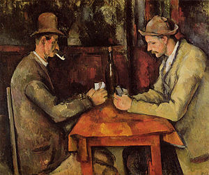 The Card Players, Paul Cézanne, a most expensive picture at a hundred and sixty million pounds
